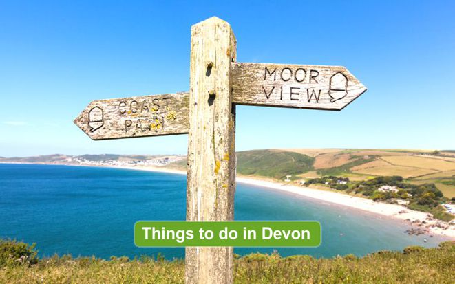 Moor View Signpost by Sea